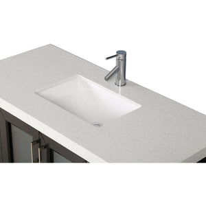 "Design Element Westfield 48"" Single Sink Vanity Set in Espresso WF-48 - Vanity Connection"