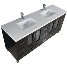 "Load image into Gallery viewer, Design Element Westfield 72"" Double Sink Vanity Set in Espresso WF-72 - Vanity Connection"