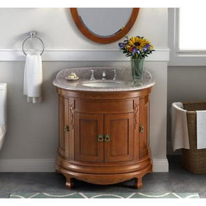 "Lanza Caddis 36"" Vanity with Backsplash WF6745 - Vanity Connection"