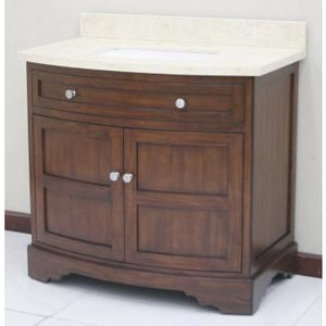 "Lanza Sligo 38"" Vanity with Backsplash WF6814-38 - Vanity Connection"