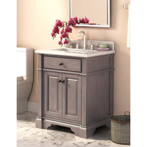 "Lanza Casanova 28"" Vanity with Backsplash WF6956-28A - Vanity Connection"