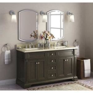 "Lanza Bryon 60"" Double Sink Vanity with Backsplash WF6976-60 - Vanity Connection"