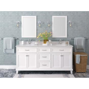 "Lanza Kenston 72"" Double Sink Vanity with Backsplash WF6985-72 - Vanity Connection"
