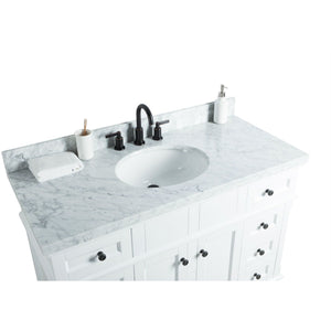 "Legion Furniture 48"" Solid Wood Sink Vanity With Mirror And Faucet WS2048 - Vanity Connection"