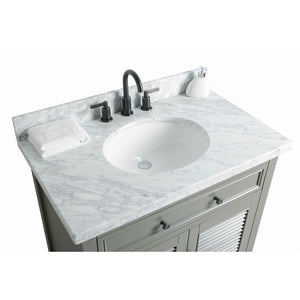 "Legion Furniture 36"" Solid Wood Sink Vanity With Mirror And Faucet WS2136 - Vanity Connection"