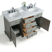"Load image into Gallery viewer, Legion Furniture 60"" Solid Wood Sink Vanity With Mirror And Faucet WS2260 - Vanity Connection"