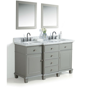 "Legion Furniture 60"" Solid Wood Sink Vanity With Mirror And Faucet WS2260 - Vanity Connection"