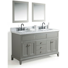 "Load image into Gallery viewer, Legion Furniture 60"" Solid Wood Sink Vanity With Mirror And Faucet WS2360 - Vanity Connection"