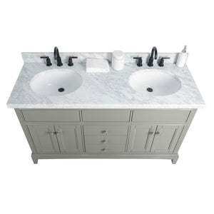 "Legion Furniture 60"" Solid Wood Sink Vanity With Mirror And Faucet WS2360 - Vanity Connection"