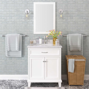 "Lanza Kenston 30"" Vanity with Backsplash WF6985-30 - Vanity Connection"