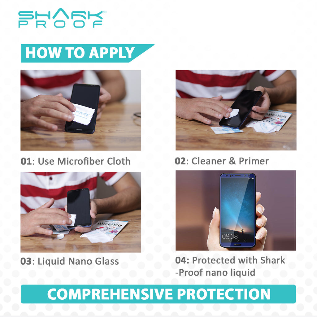 "Scratch Resistant, Liquid Repellent, Anti Bacterial Protection for all Smart Phones & Tablets, LCDs, up to 14"" Screen Size - Shark Proof"