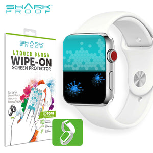 Scratch Resistant, Liquid / Sweat / Grease Repellent, Anti Bacterial FRONT & BACK Protection for ALL Smart & Regular Watches