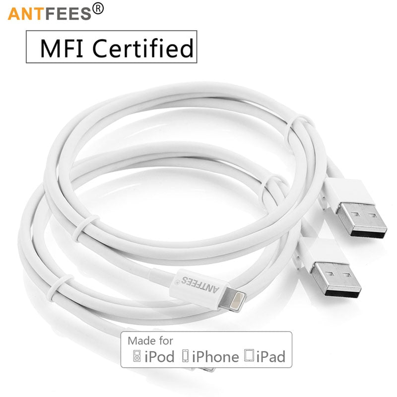 [MFI Certified] 8 Pin 2.4A Fast USB Charger Cable for iPhone 5s 5 se 8 7 6 6s Plus IOS 8 9 10 For iphone ipad Cables 1m 3m - Shark Proof