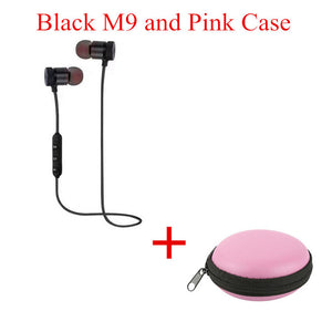 2018 M9 Wireless Headphone Bluetooth Earphone Headphone For Phone Neckband sport earphone Auriculare CSR Bluetooth V4.2 TSFH