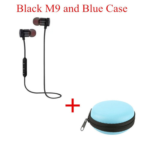 Image of 2018 M9 Wireless Headphone Bluetooth Earphone Headphone For Phone Neckband sport earphone Auriculare CSR Bluetooth V4.2 TSFH - Shark Proof