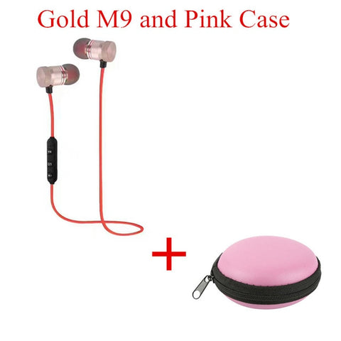2018 M9 Wireless Headphone Bluetooth Earphone Headphone For Phone Neckband sport earphone Auriculare CSR Bluetooth V4.2 TSFH - Shark Proof
