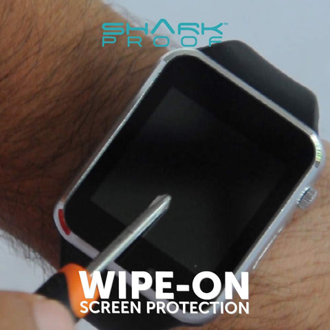 Scratch Resistant, Liquid / Sweat / Grease Repellent, Anti Bacterial FRONT & BACK Protection for ALL Smart Watches and Regular Watches - Shark Proof