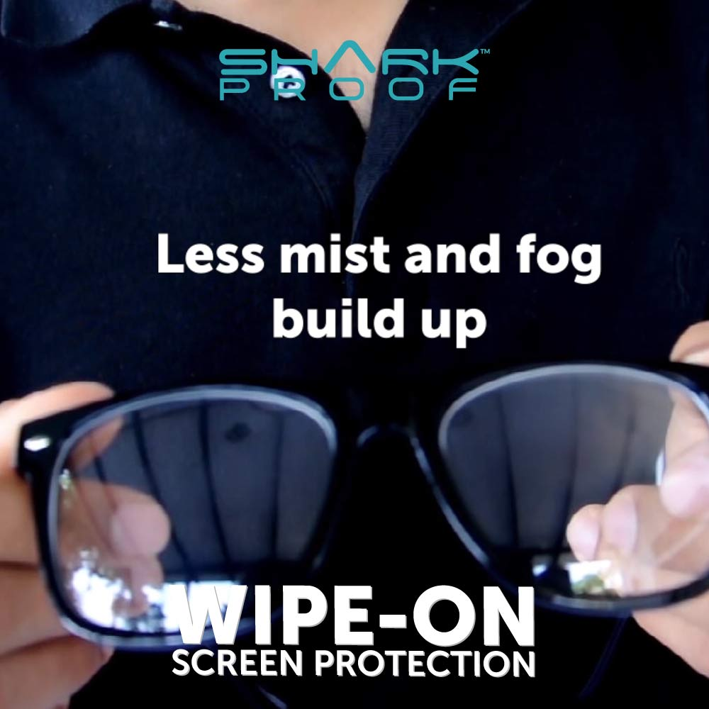 Shark Proof - Anti Bacterial scratch resistant protection for Glasses, Sunglasses, Goggles
