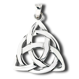 Sterling Silver Celtic Endless Knot Pendant Necklace