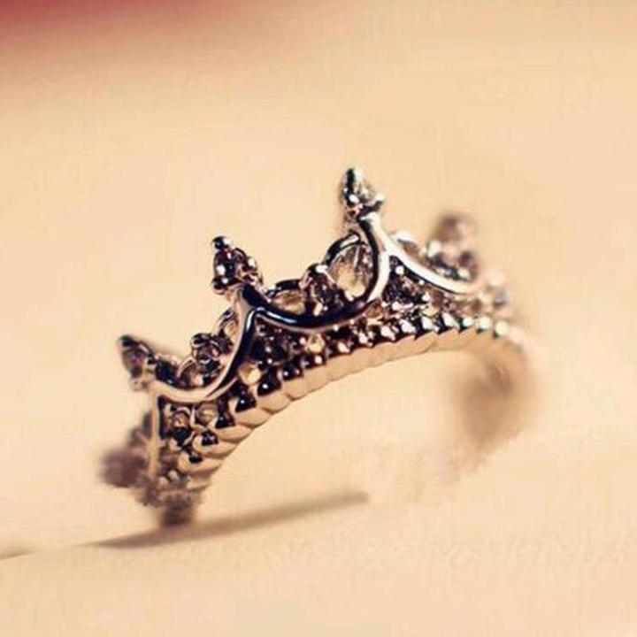 Sterling Silver Princess Tiara Ring