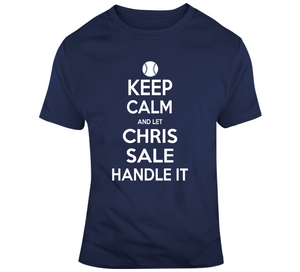 Chris Sale Keep Calm Boston Baseball Fan T Shirt