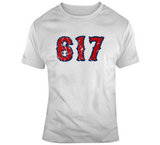 Boston Champs 617 Area Code Boston Baseball Fan Distressed T Shirt