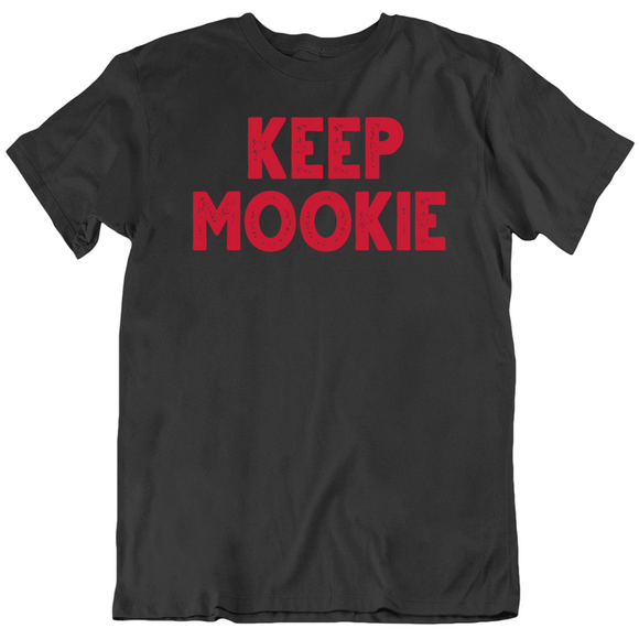 Mookie Betts Keep Mookie Boston Baseball Fan Black T Shirt