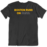 Boston Runs On Pasta David Pastrnak Hockey Fan T Shirt