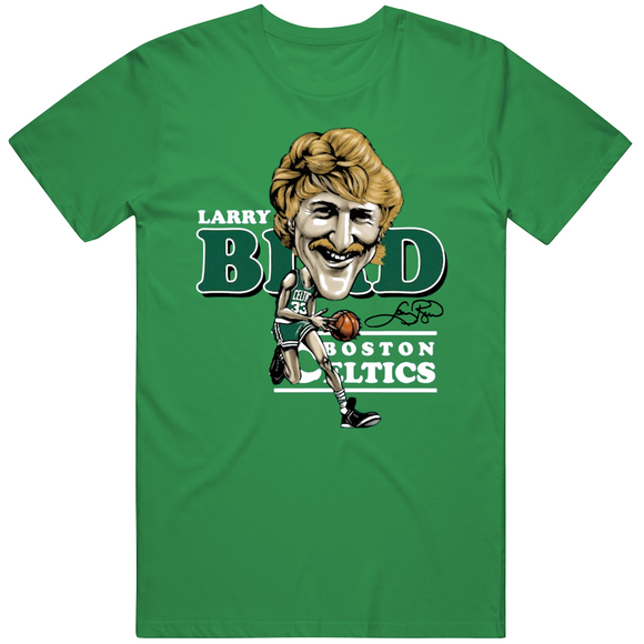 Larry Bird Larry Legend Caricature Retro Boston Basketball Fan v2 T Shirt