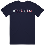 Cam Newton Killa Cam Distressed New England Football Fan T Shirt