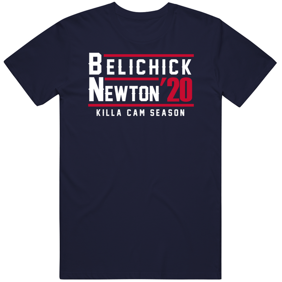 Bill Belichick Cam Newton 2020 Killa Cam Season Presidential New England Football Fan T Shirt