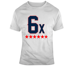 6 Time World Champs New England Football T Shirt
