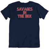 Savages In The Box Boston Baseball Fan T Shirt