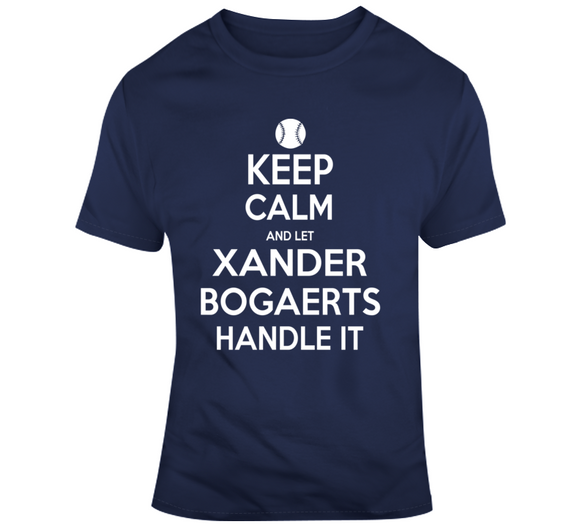 Xander Bogaerts Keep Calm Boston Baseball Fan T Shirt