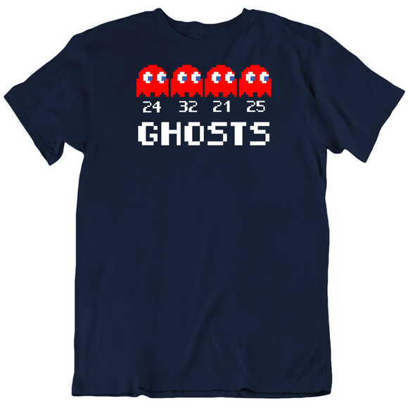 Ghosts Pac Man Parody New England Defense Football Fan T Shirt