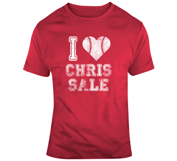 Chris Sale I Heart Boston Baseball Fan T Shirt