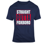 Straight Outta Foxboro New England Football Fan T Shirt