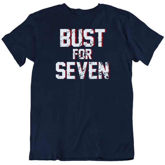 Bust For Seven New England Football Fan T Shirt
