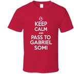 Gabriel Somi Keep Calm Pass To New England Soccer T Shirt