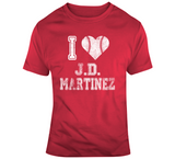 JD Martinez I Heart Boston Baseball Fan T Shirt