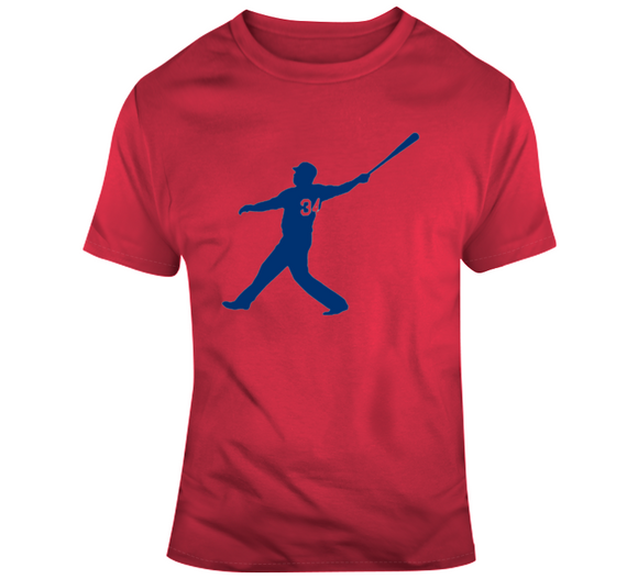 David Ortiz Big Papi Home Run Silhouette 34 Boston Baseball T Shirt