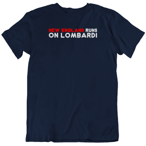 New England Runs On Lombardi City Of Champions Football Fan T Shirt