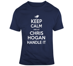 Chris Hogan Keep Calm New England Football Fan T Shirt