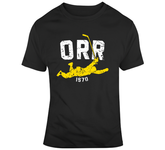 Bobby Orr Score And Soar Distressed Boston Hockey Fan T Shirt