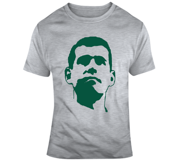 Coach Brad Stevens Big Head Silhouette Boston Basketball T Shirt