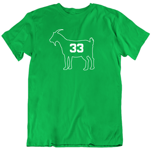 Larry Bird Goat 33 Outline Boston Basketball Fan v2 T Shirt