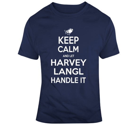 Harvey Langl Keep Calm New England Football Fan T Shirt