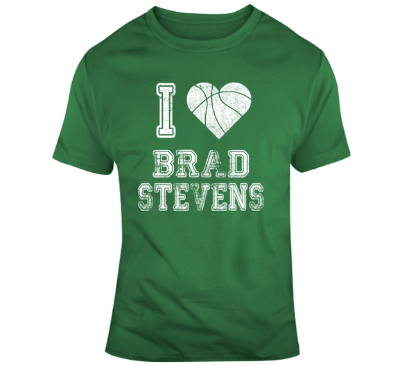 Brad Stevens I Heart Boston Basketball Fan T Shirt