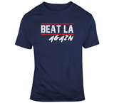 Beat LA Again New England Football Fan Distressed T Shirt