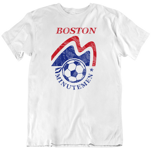 Retro NASL Boston MinuteMen Soccer Fan T Shirt